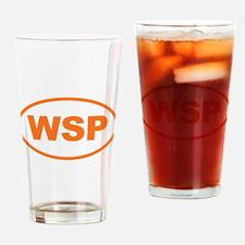 WSP Orange Euro Oval Drinking Glass