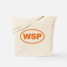WSP Orange Euro Oval Tote Bag