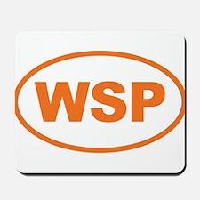 WSP Orange Euro Oval Mousepad
