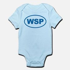 WSP Blue Euro Oval Infant Bodysuit