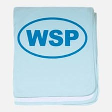 WSP Blue Euro Oval baby blanket