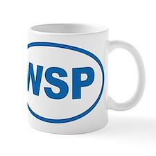 WSP Blue Euro Oval Mug