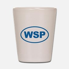 WSP Blue Euro Oval Shot Glass