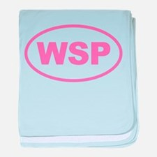 WSP Pink Euro Oval baby blanket