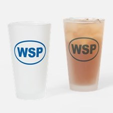 WSP Blue Euro Oval Drinking Glass