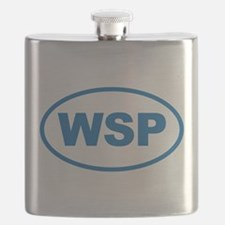WSP Blue Euro Oval Flask