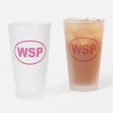 WSP Pink Euro Oval Drinking Glass