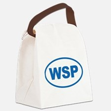 WSP Blue Euro Oval Canvas Lunch Bag