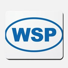 WSP Blue Euro Oval Mousepad