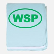WSP Green Euro Oval baby blanket