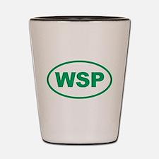 WSP Green Euro Oval Shot Glass
