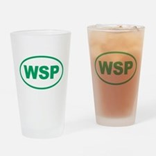 WSP Green Euro Oval Drinking Glass