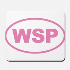 WSP Pink Euro Oval Mousepad