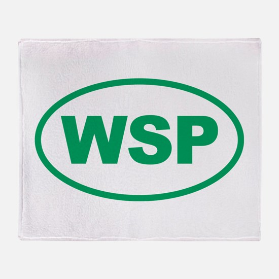 WSP Green Euro Oval Throw Blanket