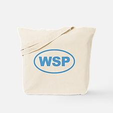 WSP Blue Euro Oval Tote Bag