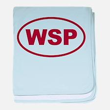 WSP Garnet Euro Oval baby blanket