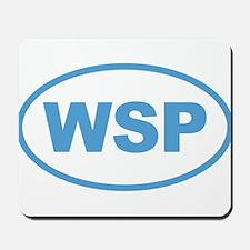 WSP Blue Euro Oval Mousepad
