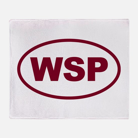WSP Garnet Euro Oval Throw Blanket