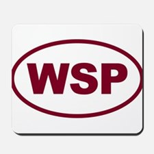 WSP Garnet Euro Oval Mousepad