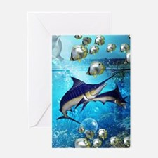Awesome underwater world Greeting Cards