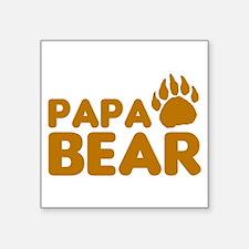 "Papa Bear Square Sticker 3"" x 3"""
