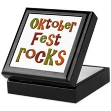 Oktoberfest Rocks Party Holid Keepsake Box