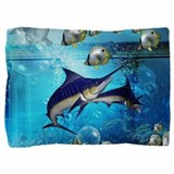 Blue marlin Pillow Sham