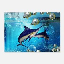 Awesome underwater world 5'x7'Area Rug