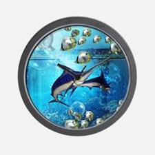 Awesome underwater world Wall Clock