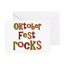 Oktoberfest Rocks Party Holid Greeting Card