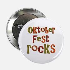 """Oktoberfest Rocks Party Holid 2.25"""" Button (100 pa"""