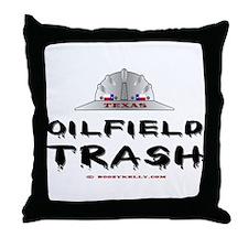 Texas Oilfield Trash Throw Pillow