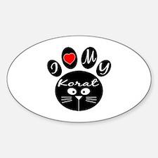 I love my Korat Sticker (Oval)
