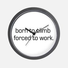 Born To Climb Wall Clock