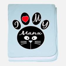 I love my Manx baby blanket