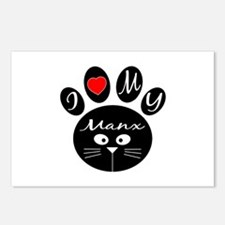 I love my Manx Postcards (Package of 8)