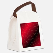 grandma in red Canvas Lunch Bag