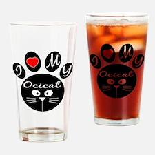 I love my Ocicat Drinking Glass