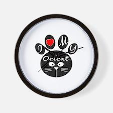 I love my Ocicat Wall Clock