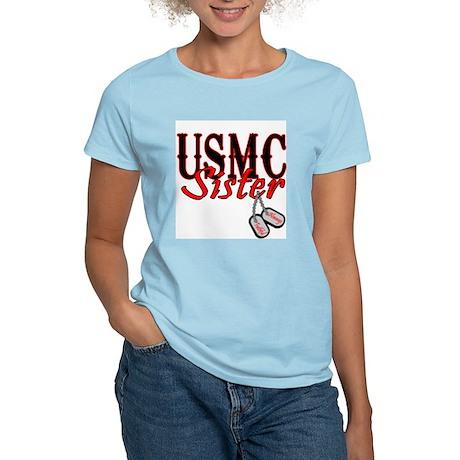 USMC Dog Tag Sister Women's Light T-Shirt