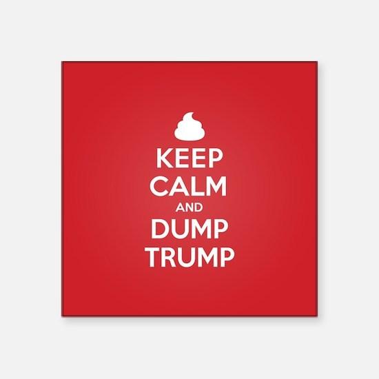 Keep Calm Dump Trump Sticker