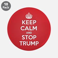 "Keep Calm Stop Trump 3.5"" Button (10 pack)"