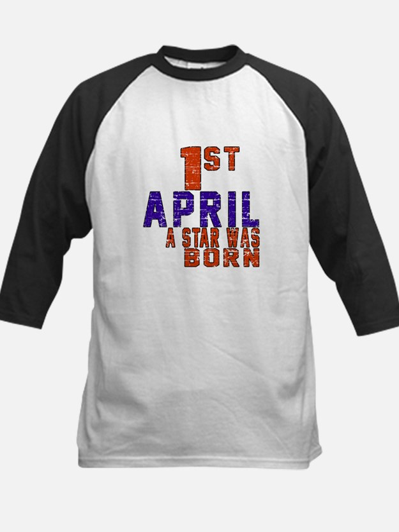 01 April A Star Was Born Kids Baseball Jersey