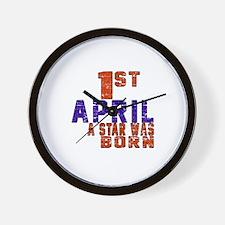 01 April A Star Was Born Wall Clock