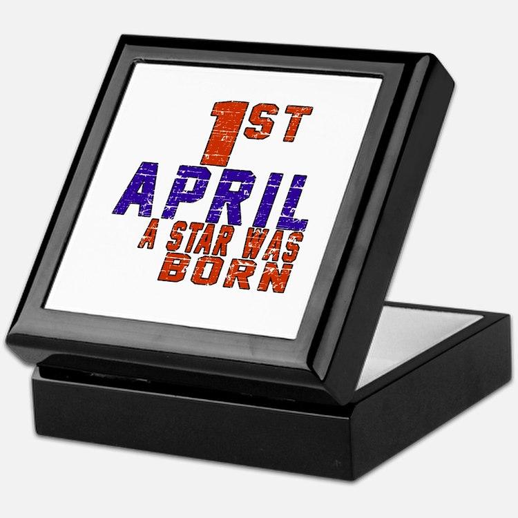 01 April A Star Was Born Keepsake Box