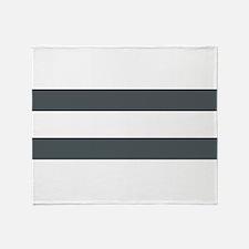 Charcoal Stripes Throw Blanket