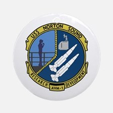 USS Norton Sound (AVM 1) Ornament (Round)