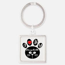 I love my Ragdoll Square Keychain