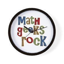 Math Geeks Rock Nerd Humor Wall Clock