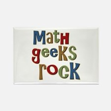 Math Geeks Rock Nerd Humor Rectangle Magnet
